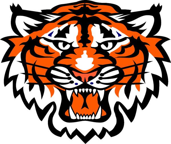 Tiger Mascot Logos Tiger Head Team Mascot Color