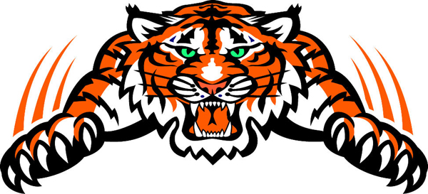 Tiger Mascot Vinyl Sports Decal Make It Yours