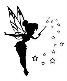 Tinkerbell black and white 0 ideas about tinker bell tattoo on - WikiClipArt