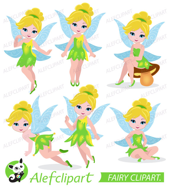 Clipart Fairy, Tinkerbell Clipart, Fairy Digital Clipart from Alefclipart  on Etsy Studio