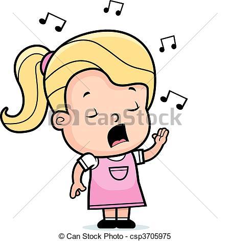 ... Toddler Singing - A cartoon toddler girl singing a song. Toddler Singing Clipart ...