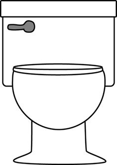 Toilet clipart black and white #8
