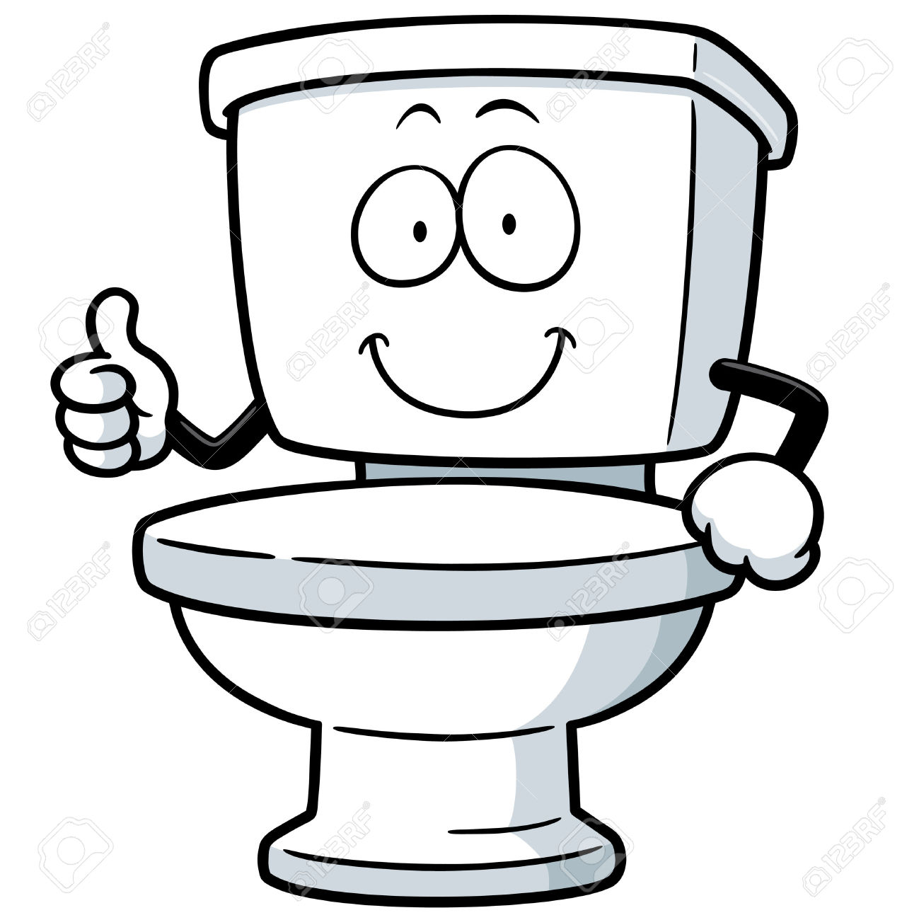 Toilet clipart funny #7