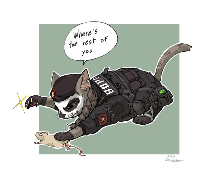 Whereu0027s the rest of yo 군 Tom Clancyu0027s Rainbow Six Siege Cat mammal cartoon  small to