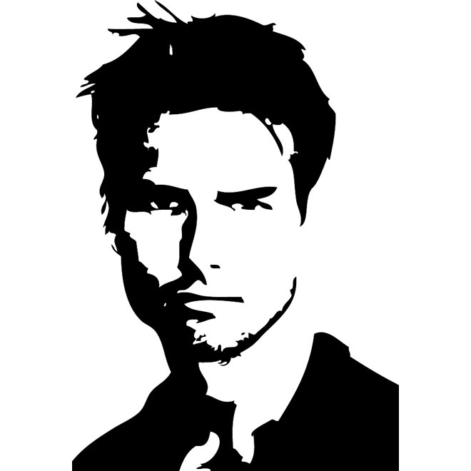 ACTOR TOM CRUISE VECTOR PORTRAIT