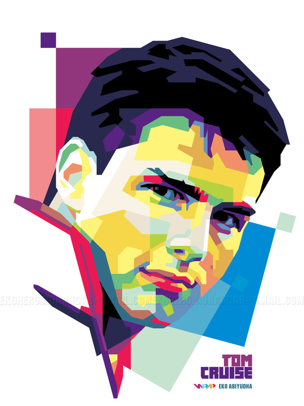 Tom Cruise in WPAP by ekoabiyudha ClipartLook.com