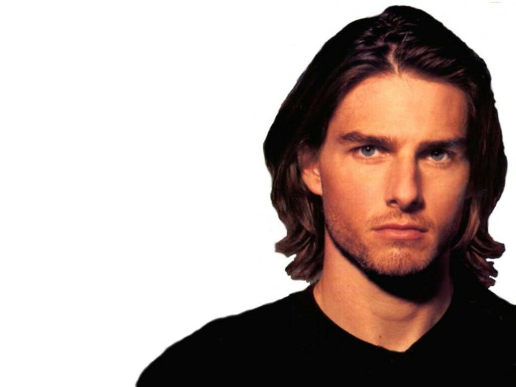 Tom Cruise Long Hair White Background Wallpaper 1024x768