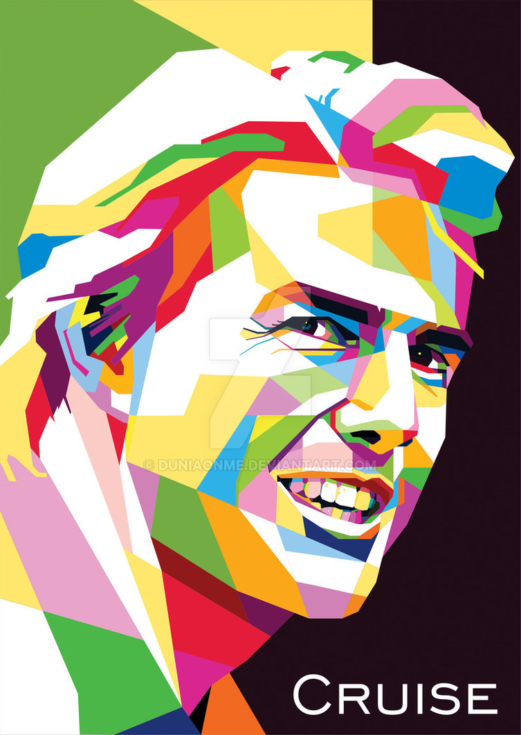 Tom Cruise - WPAP by duniaonme ClipartLook.com