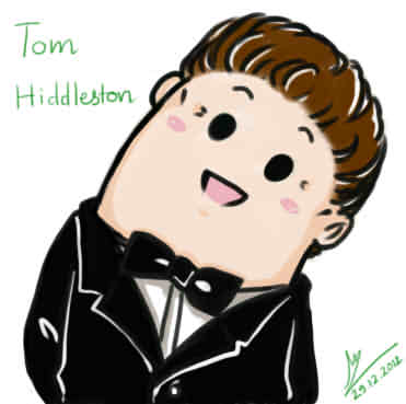 Tom Hiddleston with Leaning Head style by Lad1991 ClipartLook.com