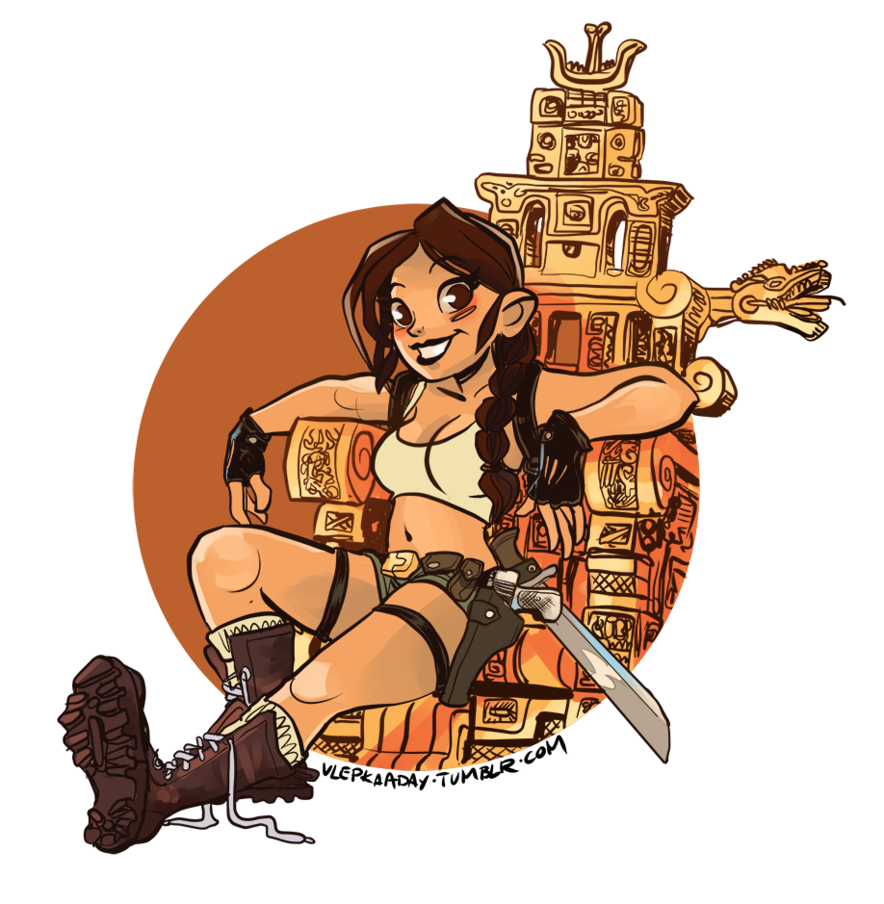 Lara Croft: Tomb Raider on a Golden Throne by Qrjusz ClipartLook.com