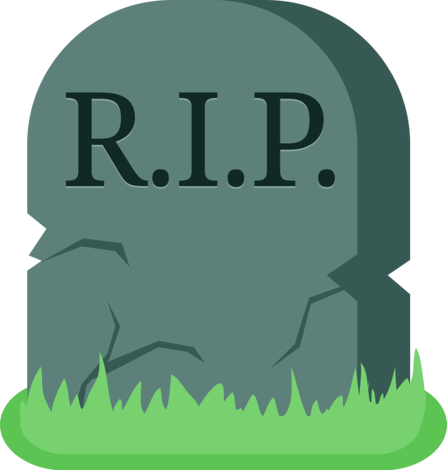 Tombstone Clipart Dead Death Grave Parting Rest In Peace