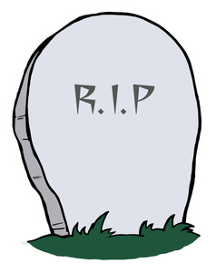 Tombstone Clipart Image Rip On A Gravestone