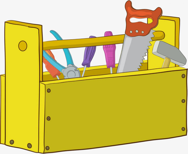 cartoon toolbox, Cartoon, Toolbox, Saws PNG Image and Clipart