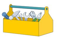 open toolbox filled with different tools clipart. Size: 44 Kb From: Tools