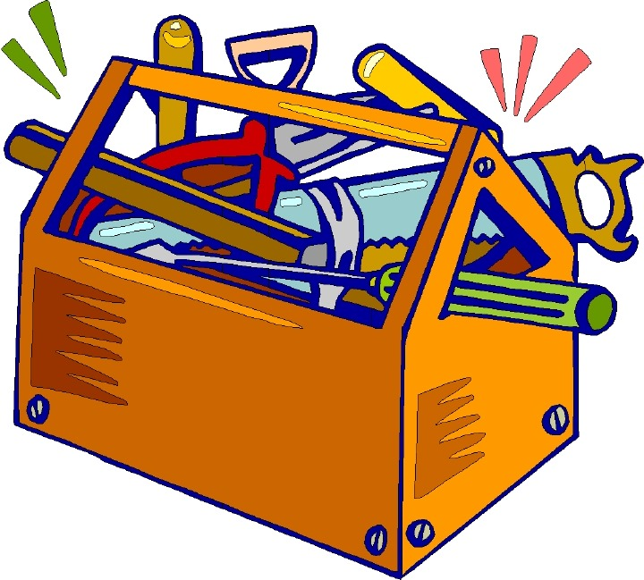 Reading Tool Box Clipart #1