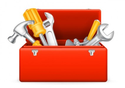 Tool Box With Tools Clipart #1