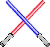 Tools Tool Weapons Lightsabers Sword Weapon Crossed Lightsaber