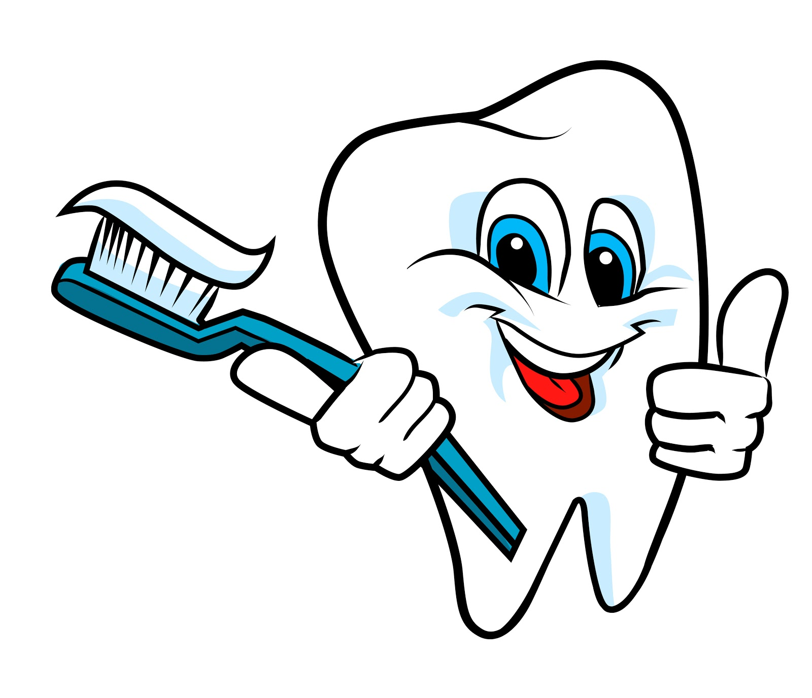 Tooth and toothbrush clip art