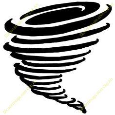 Tornado Drawing Sun Tornado Pages Tornado Clip Art Vector Stock More