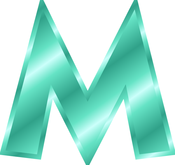 Tosca Letter M Clipart