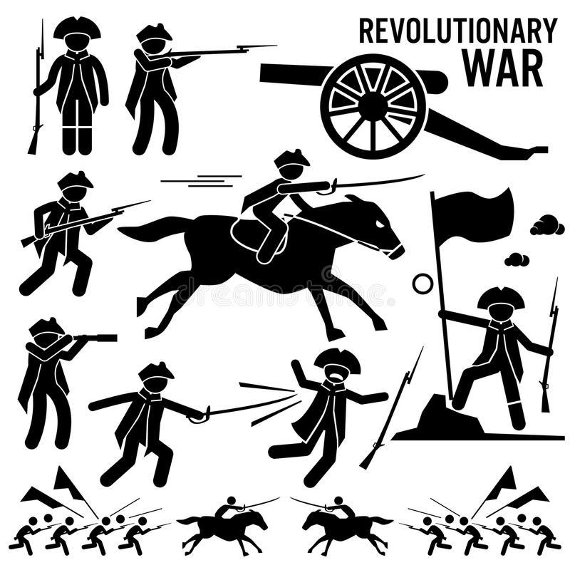 Download Revolutionary War Soldier Horse Gun Sword Fight Independence Day  Patriotic Clipart Stock Vector - Illustration
