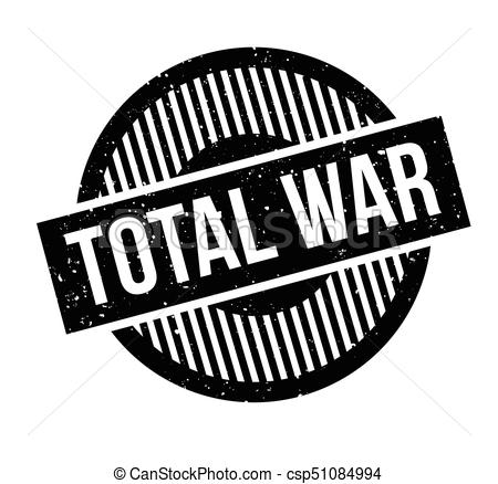Total war rubber stamp. grunge design with dust scratches. effects can be  easily removed for a clean, crisp look. color is easily changed.