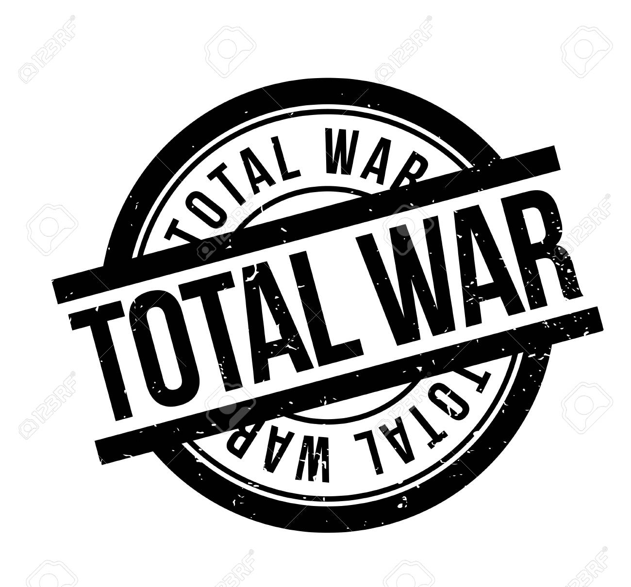 Total War rubber stamp Stock Vector - 87046424