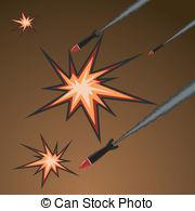 . ClipartLook.com Vector illustration of rocket attack