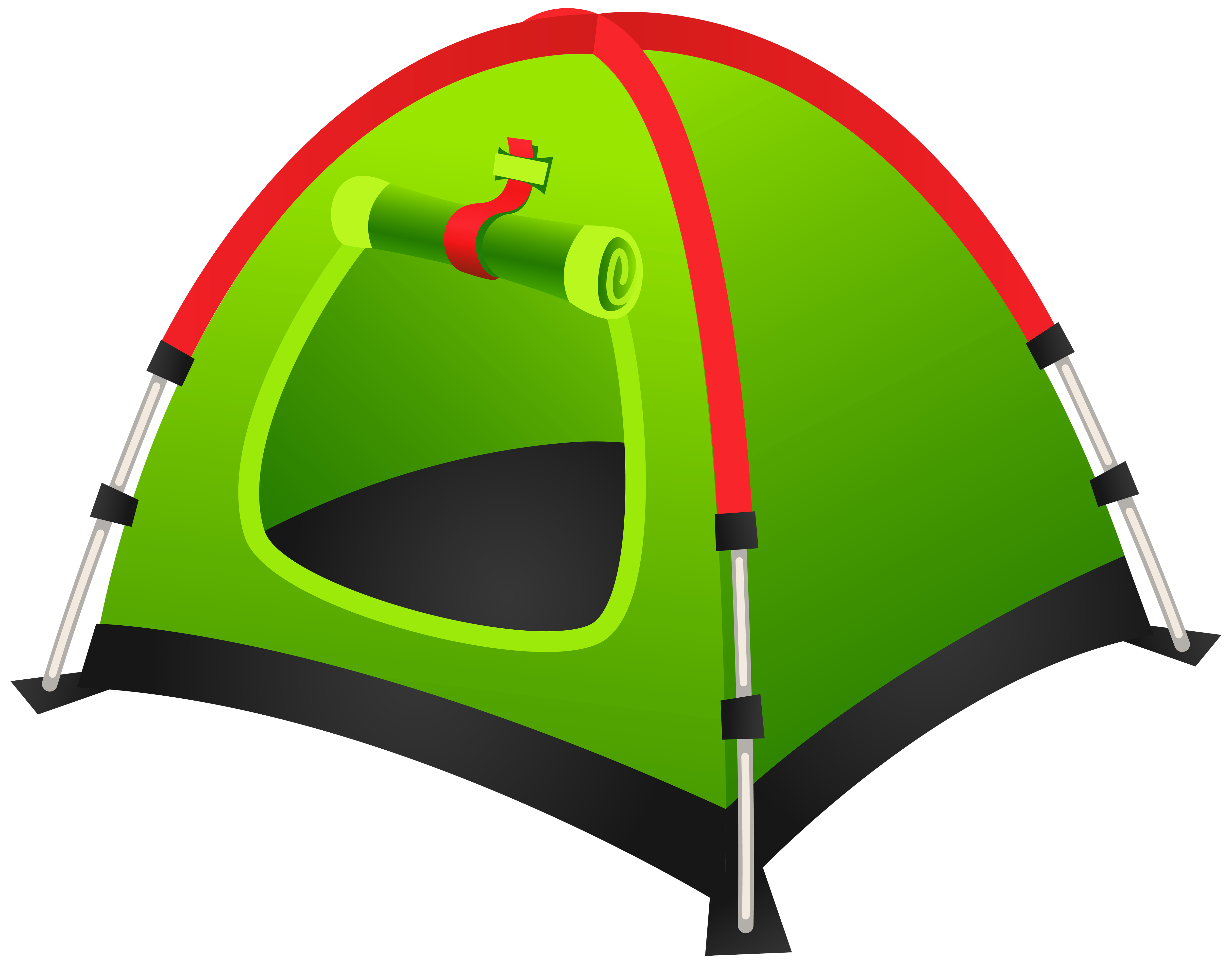 Tourist Green Tent PNG Clipart Image