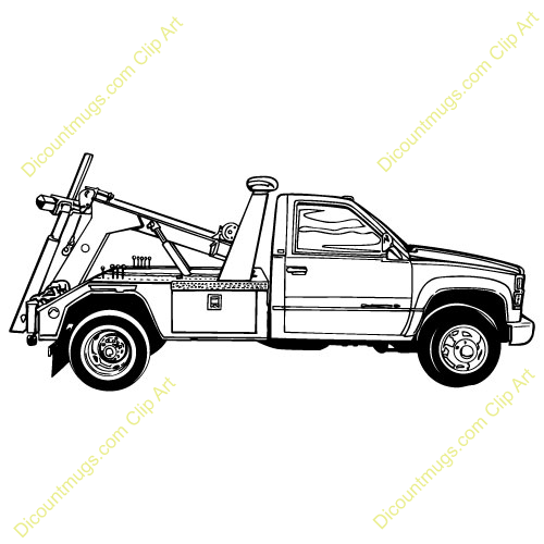 Tow truck, Clip art and .