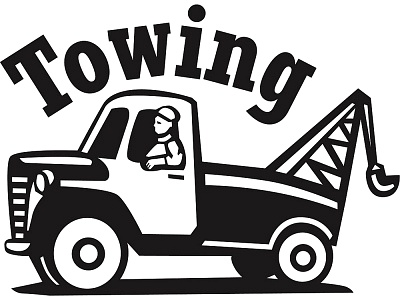Tow Truck With Towing Written Above Royalty Free Images
