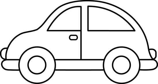 Toy Car Clipart Black And ..