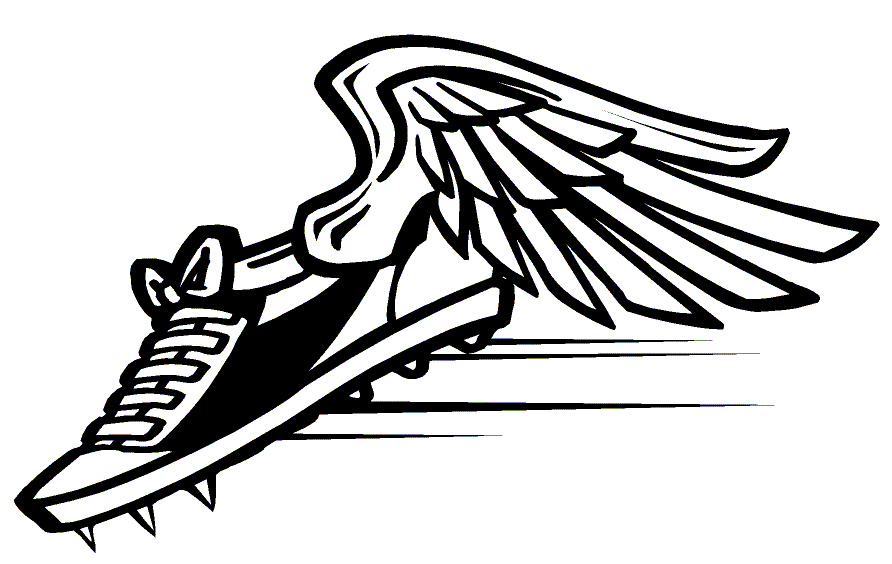 Running Track Shoes Clipart #1