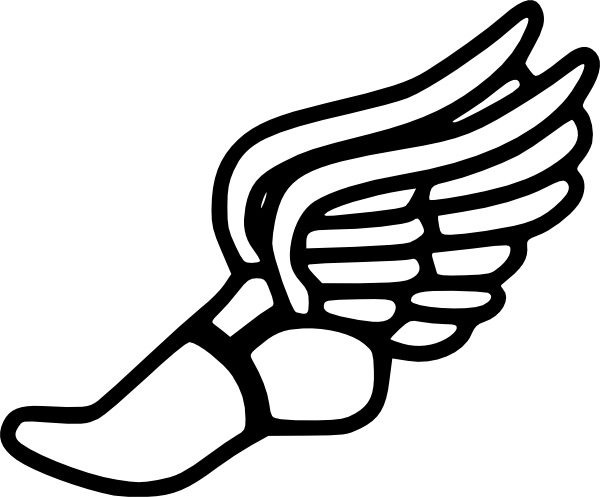 track shoe clip art | Track And Field clip art