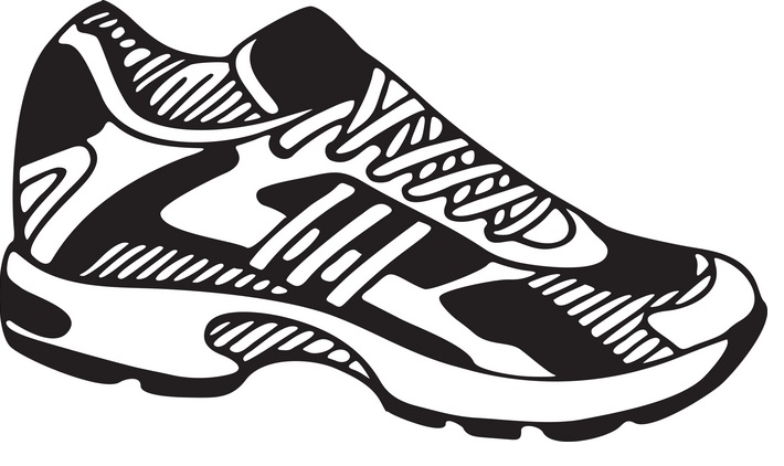 Track shoe track running shoes clip art image
