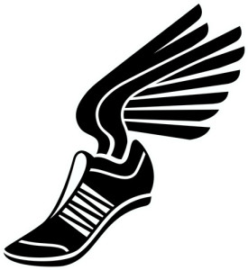 Winged shoe clipart