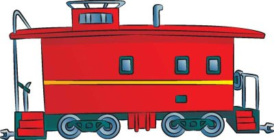 ... Train caboose clip art ...