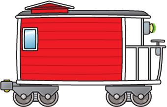 Train Caboose Clipart .