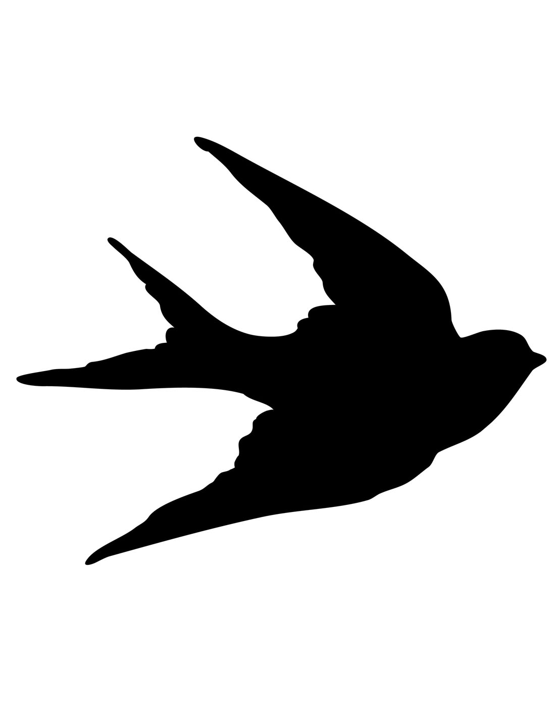 Transfer Printables Bird Silhouettes Swallows The Graphics Fairy