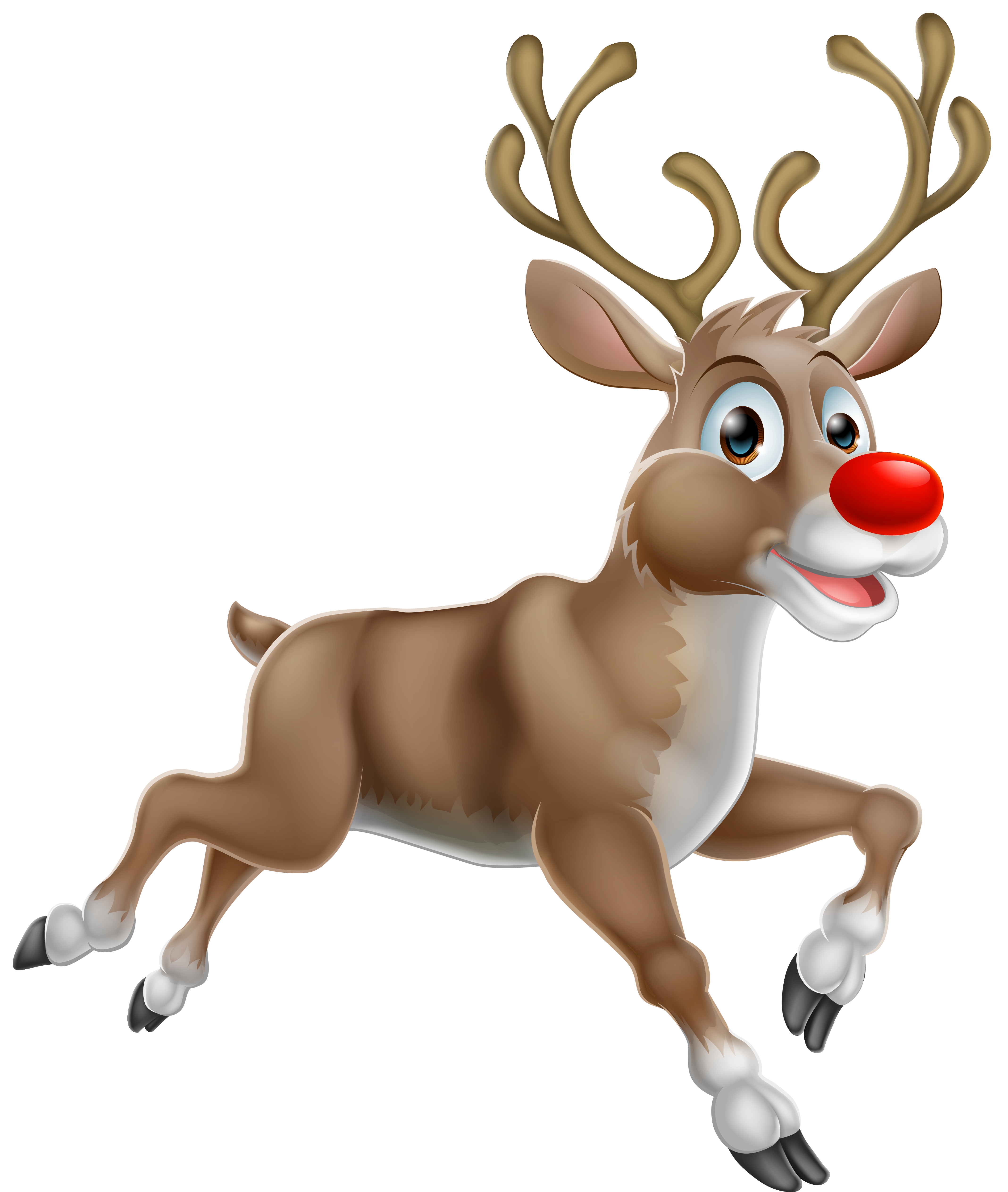 Transparent Christmas Rudolph PNG Clipart
