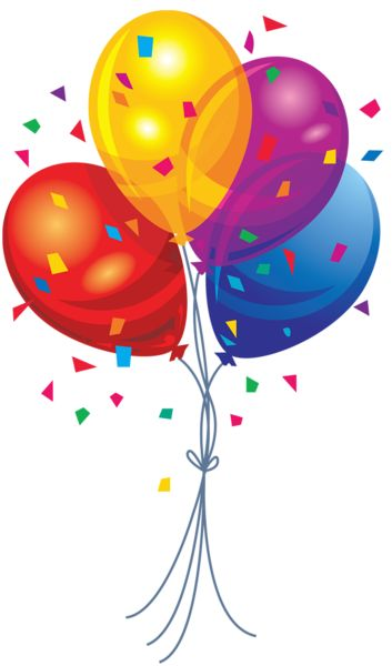 Transparent Multi Color Balloons Clipart   Clipart   Pinterest   Of life, Happy and Lol