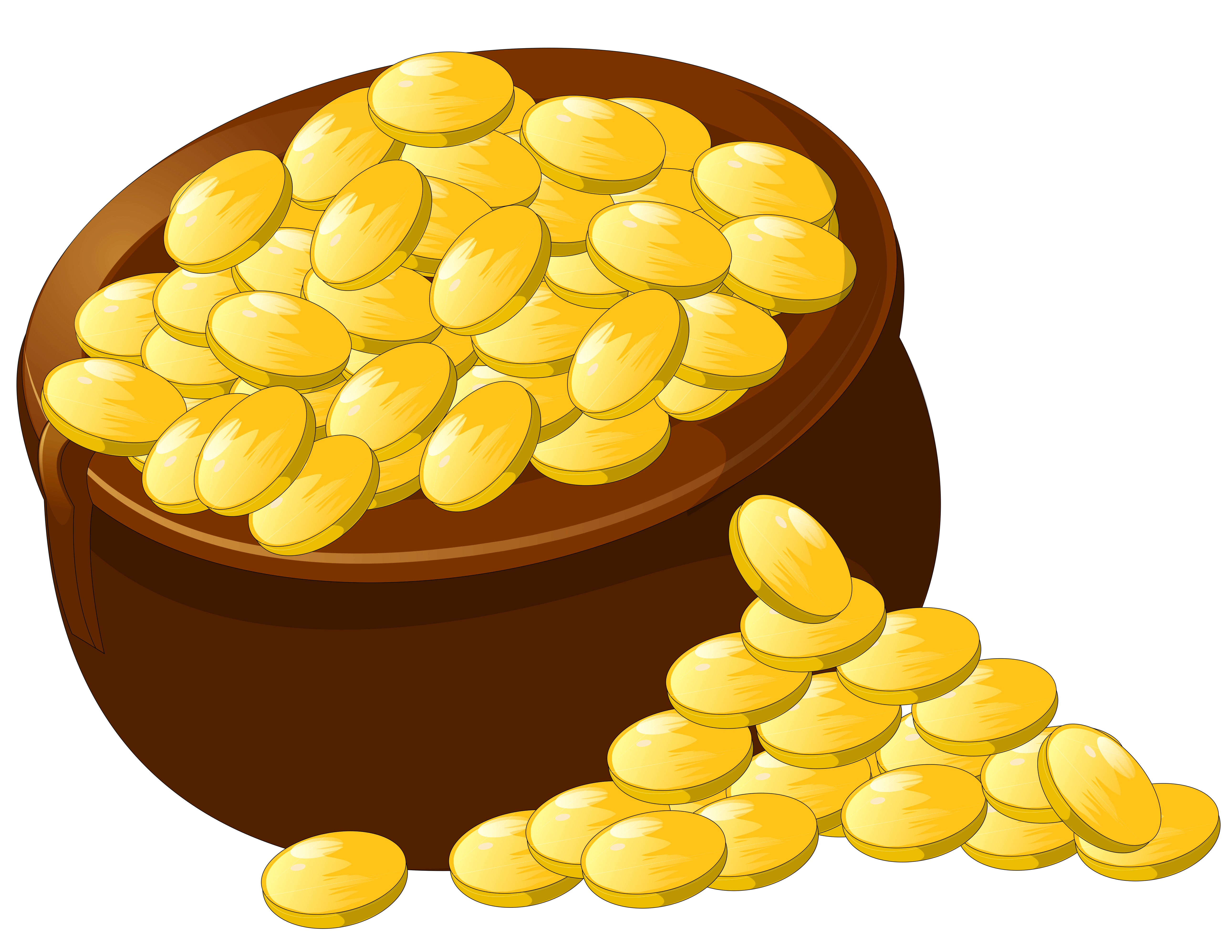 Transparent pot of gold picture clipart