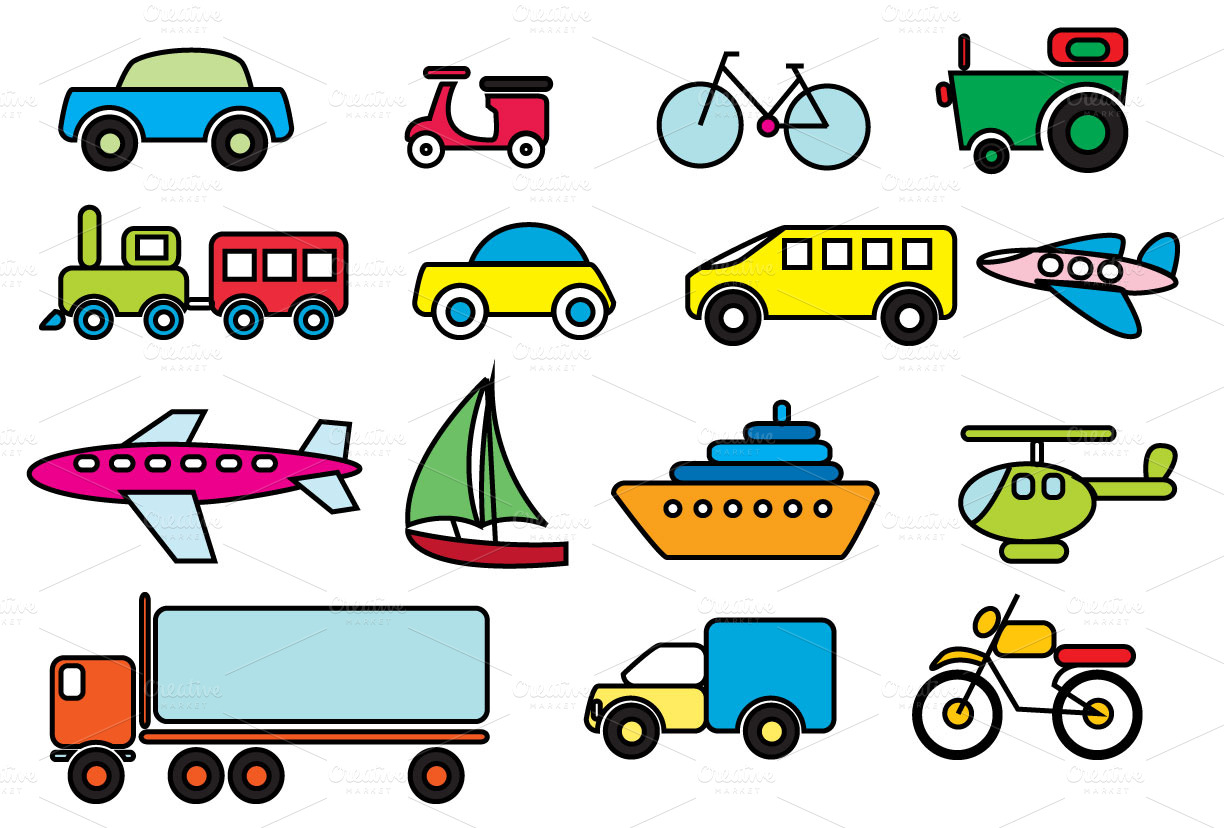 Different Transportation Clip Art