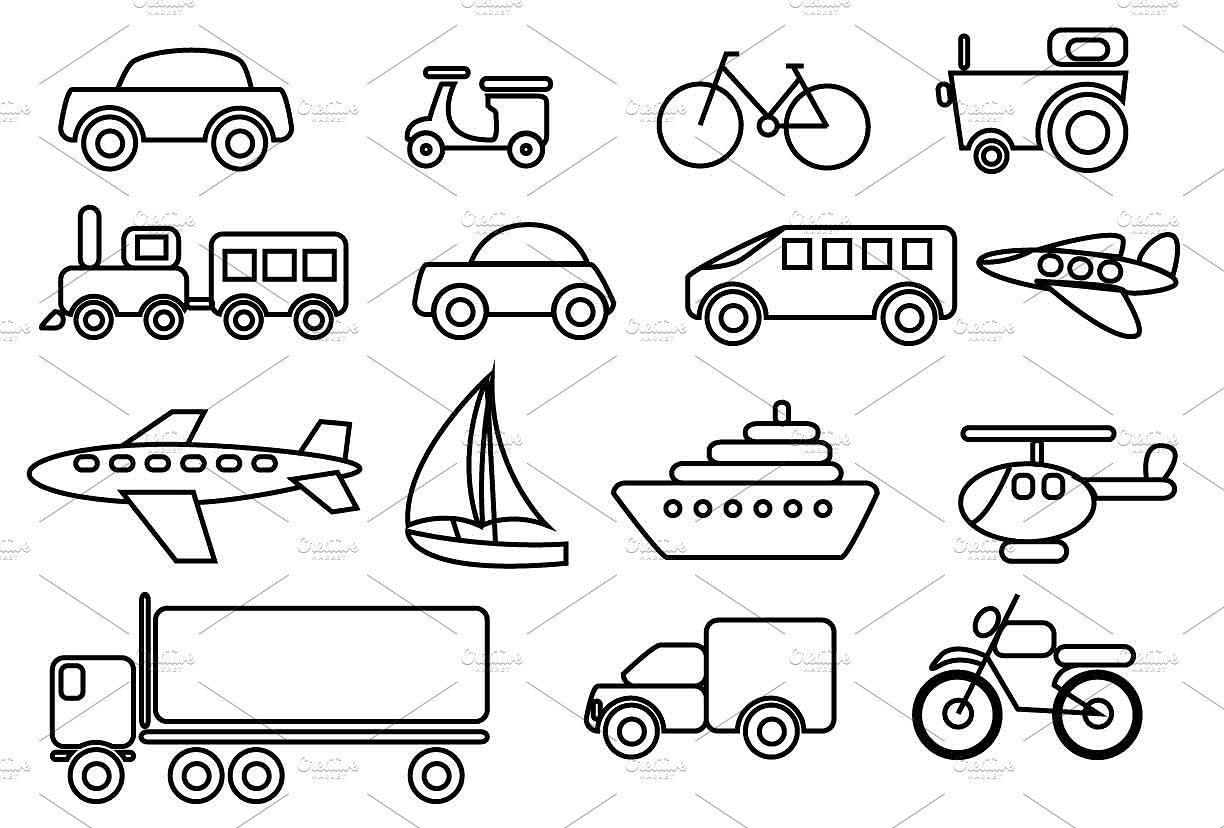 Transportation Clipart Photos, Graphics, Fonts, Themes, Templates.