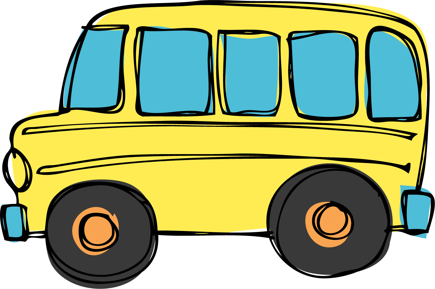 Transportation School Bus Clipart