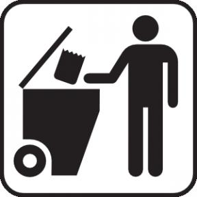 Trash Dumpster White Clip Art. Garbage Dumpster Clipart