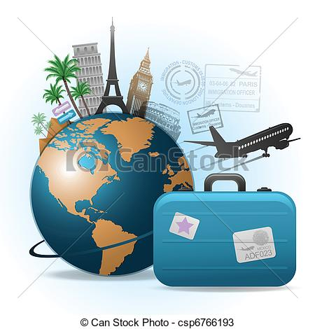 Travel background - travel background concept