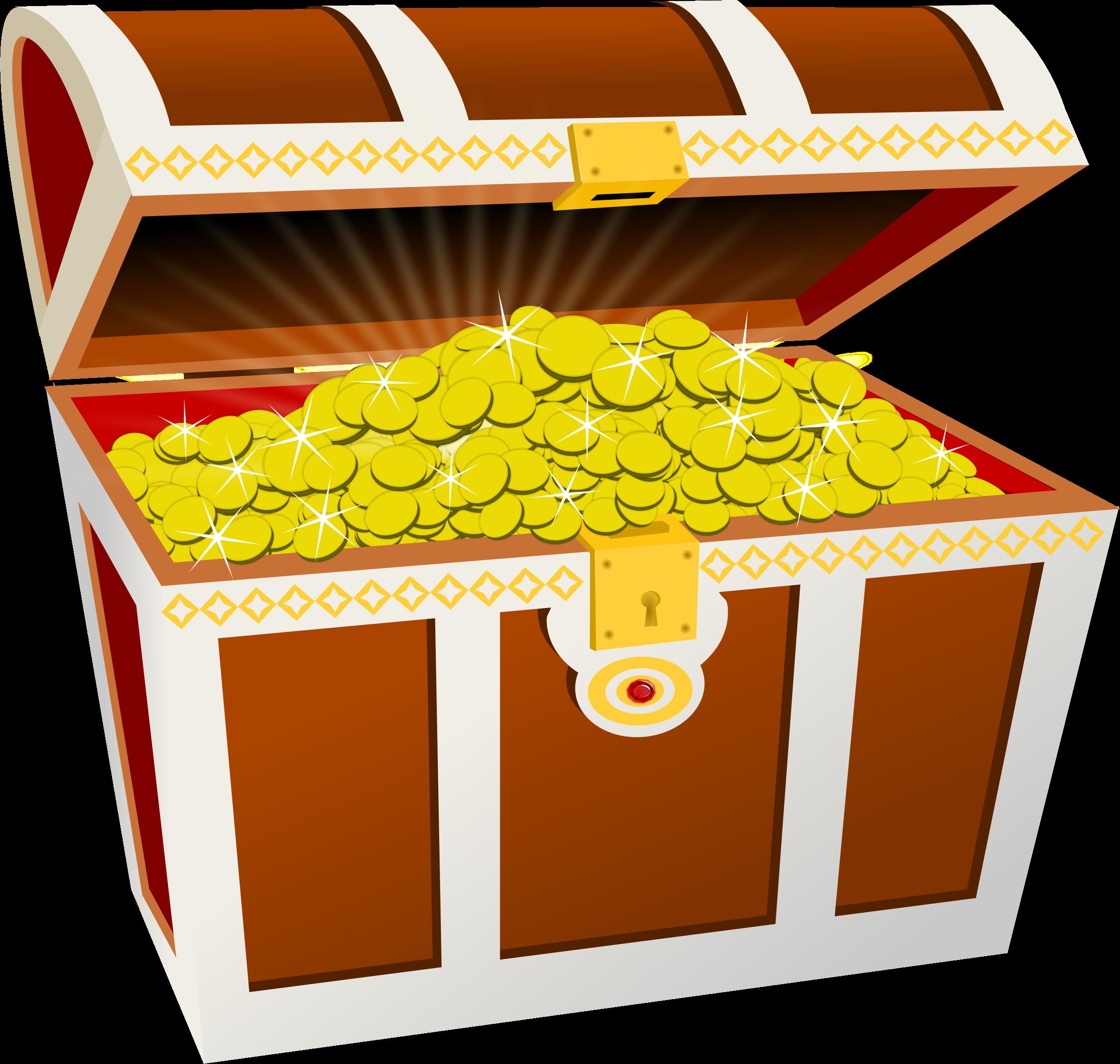 Treasure Chest Clip Art Image ... BIG IMAGE (PNG)