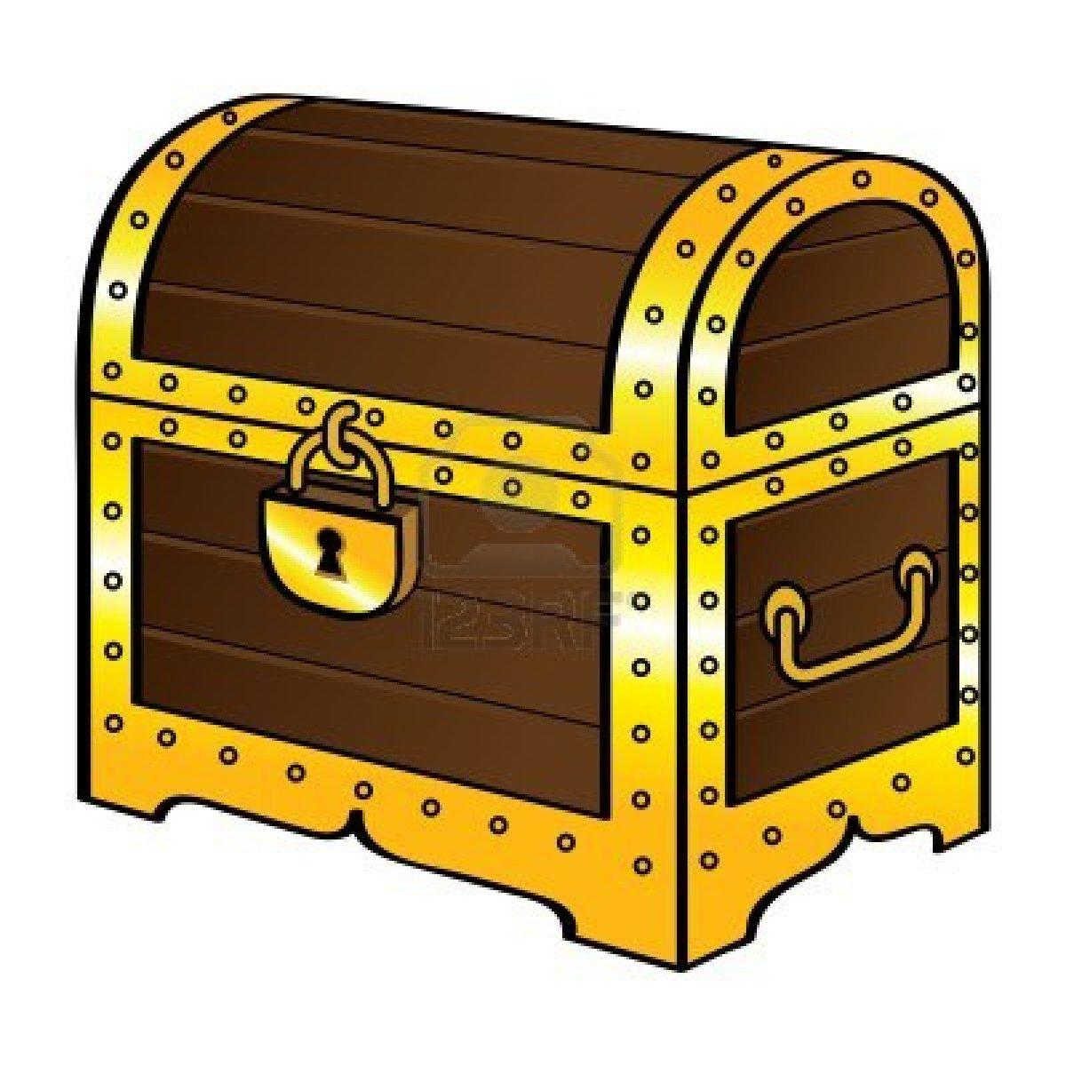 Treasure chest clip art vector .