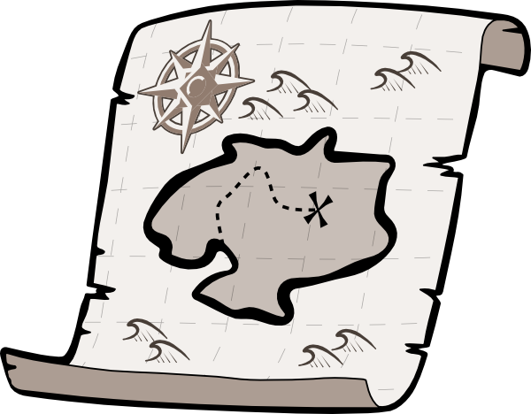 Treasure Map Clip Art At Clker Com Vector Clip Art Online Royalty